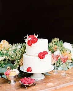 Pop of color! I love how much this cake by, @ninecakes makes a statement.- @lmaddenphoto // Photography:  @lmaddenphoto // Floral design: @fullaperturefloral // Table design: @henryandcodesign // Film processing: @indiefilmlab