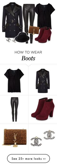 """""""I WANT THE BOOTS """" by avamancuso on Polyvore featuring Balmain, Chanel, Helmut Lang, Aéropostale, Eugenia Kim, Yves Saint Laurent and avamancuso"""