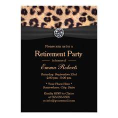 Black and White Damask Diamond Retirement Party Paper Invitation Card Farewell Party Invitations, Retirement Party Invitations, Sweet 16 Invitations, Retirement Parties, Invitation Paper, Personalized Invitations, Elegant Invitations, Wedding Invitation Design, Invites