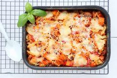 Pasta uit de oven met pompoen en champignons - Mind Your Feed