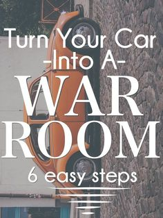 How To Turn You Car Into A War Room of Prayer in 6 Easy Steps