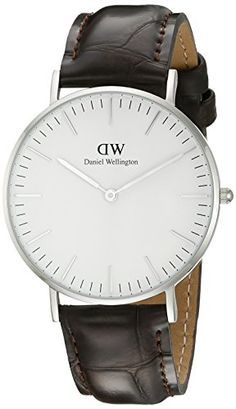 Daniel Wellington Women's 0610DW York Analog Display Quartz Brown Watch - Brown crocodile leather watch with stainless steel case and white dial fixed with silver hands and index hour markersDurable and scratch resistant mineral crystalQuartz MovementCase Diameter: 36mmWater Resistant To 99 Feet