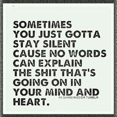 Why im so quiet.