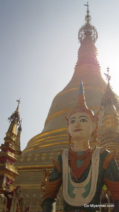 Pagoda in Pathein, Irrawaddy Division, Myanmar (Burma). Go here for more information on Pathein: www.go-myanmar.com/pathein-bassein