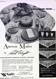 Russel Wright Japanese China, Modern Dinnerware, Russel Wright, Noritake, Company Names, Ephemera, 1920s, Advertising, Mary