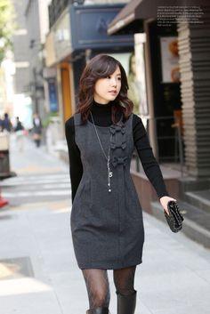 Meily City Stock - Vestido De Invierno Moda En Corea - Km075 - S/. 109,00 en MercadoLibre