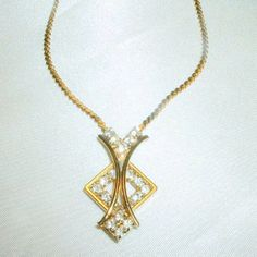 Vintage 1980'S Modernist Rhinestone Necklace