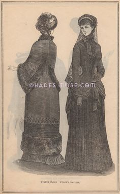 1883 Widow's CostumeMourning by HadesMuse on Etsy, $20.00