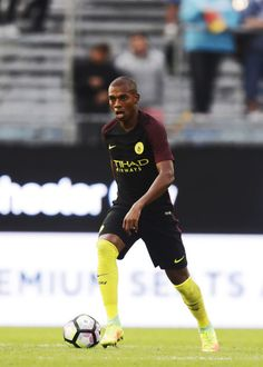 Fernandinho Luiz Roza of Manchester City during the Pre-Season Friendly between Arsenal and Manchester City at Ullevi on August 7, 2016…