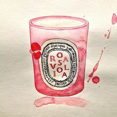 A Study Per Day #12, Diptyque ltd edition Rose Viola candle. A loving scent on a cold day. To answer a few tech questions: these are on 300gsm paper, medium textured but shot in afternoon sun to bring it the paper definition. The sunlight influences the warmth of the photos. #Luxe product #watercolour studies, with @togetherjournal #candle #art #artisticstudy #instadaily  #windsornewton #schmincke #rose painted by Sarah Larnach