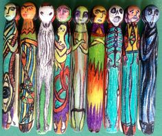 Recent pegs. Lucky Ladies, Creepy, Folk, Arts And Crafts, Artsy, Lady, Awesome, Painting, Inspiration