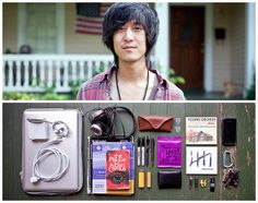 Super fun project creating dyptich's of people and the contents of their bags ...