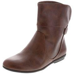 short cognac boots