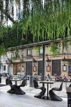 Trussardi Cafe - Milan, Italy #JCrew #MyShoeStory