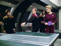 Playing table tennis in the future and in space. Still looks the same to me :-)