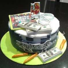 grand theft auto game cake - Cake by Manon