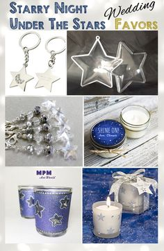 Under The Stars - Starry Night - Wedding Favors - Star Wedding Favors - DIY or Purchasable through various sellers. More