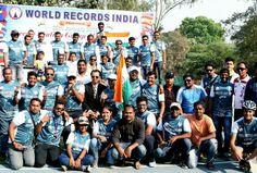 Pune Reverse Skating Marathon - Pune, Maharashtra by Shekhar Thorat and Vishal Desai in Pune, Maharashtra with Paavan Solanki, President World Records India