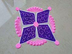 Simple and beautiful rangoli design - YouTube