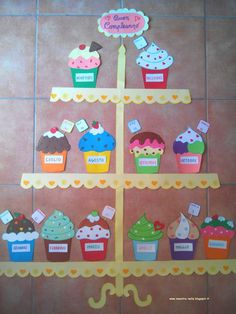 Ideas birthday board classroom small for 2019 Decoration Creche, Class Decoration, School Decorations, Birthday Charts, Birthday Chart For Preschool, Birthday Chart Classroom, Birthday Bulletin Boards, Cupcake Bulletin Boards, Class Birthdays