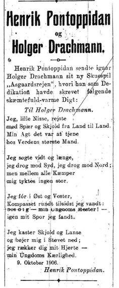 holger drachmann digte - Google-søgning