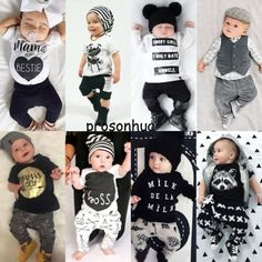 2pcs Newborn Toddler Infant Baby Boy Girl Clothes T-shirt Tops+Pants Outfits Set in Clothing, Shoes & Accessories, Baby & Toddler Clothing, Boys' Clothing (Newborn-5T) | eBay