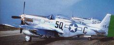 "Lt.Col. William C Clark of Richmond VA, 504th Fighter Squadron & Headquarters Unit. P-51D 44-64148 5Q-C ""Happy IV""/""Dotty""."