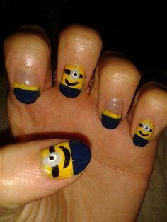 Amz Brearty's minion nails!