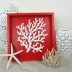 Elegant Coral stencil pattern for beach style decor. Nautical designs, beach decor stencils, beach designs and stenciling tutorials for easy decorating. Stencil Wall Art, Stencil Painting On Walls, Anchor Stencil, Stencil Decor, Beach House Furniture, Beach House Decor, Beautiful Beach Houses, Rustic Home Design, Diy Home Decor Projects