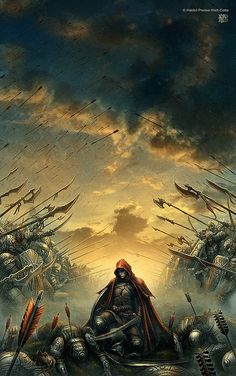 """I hear the shouts, the pain. I feel the arrows, the sword. I see my brothers, slain. Oh why! Why my lord?"""