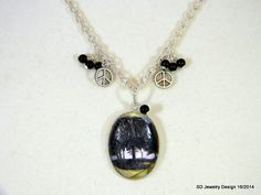 Tree Picture Pendant Necklace with Black by SDJewelryDesign16, $30.00