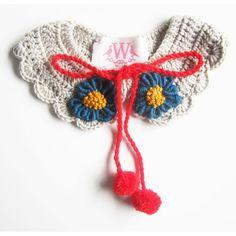 crocrochet:    Crochet Collar          Totally adorable!