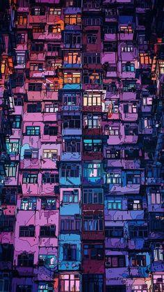 New Pixel Art Wallpaper Cyberpunk Ideas City Wallpaper, Scenery Wallpaper, Aesthetic Iphone Wallpaper, Wallpaper Backgrounds, Aesthetic Wallpapers, Phone Wallpapers, Music Backgrounds, Wallpaper Ideas, Unique Wallpaper