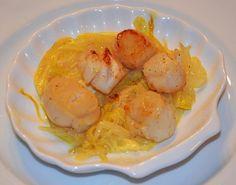 Cuisine maison, d'autrefois, comme grand-mère: Recette de coquilles Saint-Jacques à la fondue de poireaux crémeuse