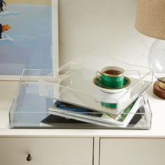Acrylic Trays - Mirrored #westelm