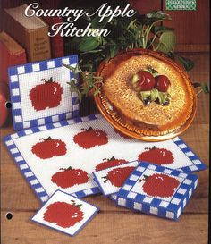 Country Apple Kitchen Plastic Canvas Kit