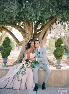 luxury bride and groom from California feature in Trendy Bride's Winter/Spring 2015 issue http://trendybride.net/california-wedding-estate-shoot-magazine-feature/ {trendy bride}