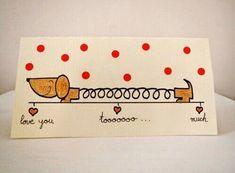 Imagem de love, diy, and dog - #de #DIY #Dog #imagem #love Valentines Bricolage, Valentines Diy, Valentine Cards, Funny Valentine, Love Cards, Diy Cards, Diy Birthday, Birthday Cards, Tarjetas Diy