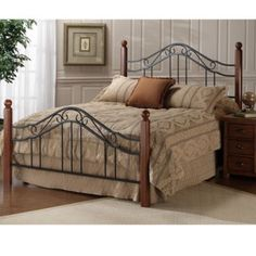 Madison Wood Iron Bed In Cherry Humble Abode inside measurements 1000 X 1000 Wrought Iron And Wood Bedroom Furniture - Dining area of your residence is going to have a […] Wood Bedroom, Bedroom Furniture Sets, Bed Furniture, Bedroom Sets, Bedding Sets, Bedroom Decor, Bedrooms, Extra Bedroom, Furniture Cleaning