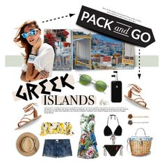 """Pack and Go...Greek Islands"" by angiesprad ❤ liked on Polyvore featuring Valia Gabriel, Dolce&Gabbana, Anna Kosturova, Trish McEvoy, J.Crew, Flora Bella, Vans, Marc Jacobs and Ray-Ban"