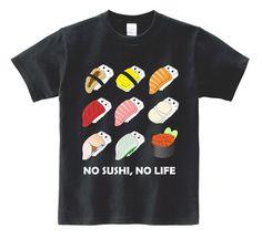 Men T-Shirt, Women T-Shirt, Graphic Tee, Novelty Shirt, Dad Gift, Gift shirt, No Sushi No Life, Japanese Sushi T-Shirt, Foodie Tee