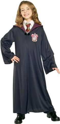 Rubies Costume Harry Potter Child's Hermione Granger Gryffindor RobeLarge Black