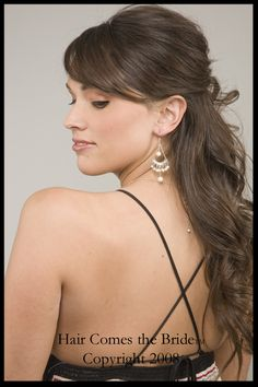 before and after bridal hair and makeup photos- side