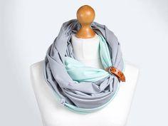 Sciarpa infinity cotone con polsino in pelle sciarpe