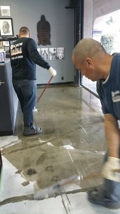 Epoxy coating will quickly transform your garage into a home gym, bar,