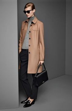 BOSS HUGO BOSS Wool Blend Trench Coat, Sweater & Trousers  available at #Nordstrom