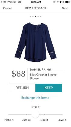 (Again, blue - I have so much blue in my closet) I love the sleeve detail and the cut of this top.