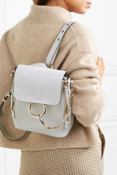 17d91712d6c1 Chloé - Faye small textured-leather and suede backpack