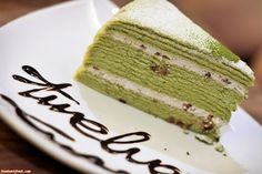 Matcha mille crepe cake How To Cook Pancakes, Cake Recipes, Dessert Recipes, Matcha, Crepe Cake, Cake Cookies, Cupcakes, Mille Crepe, Types Of Cakes