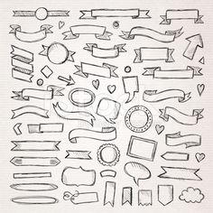 Hand drawn sketch hand drawn elements royalty-free stock vector art